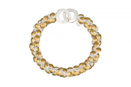 Seashell bracelet gold