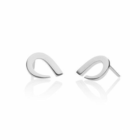 Rounded Silver Earrings Small