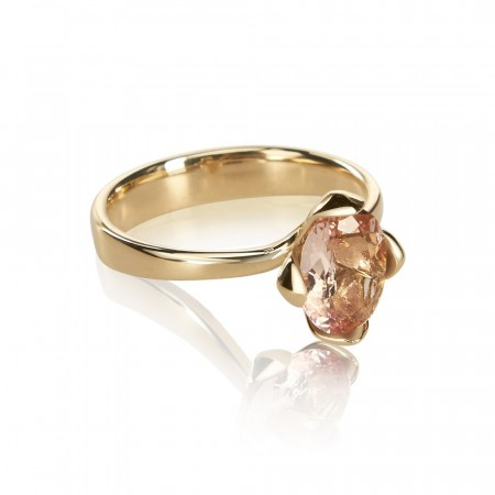 Honey Petal ring med Morganit