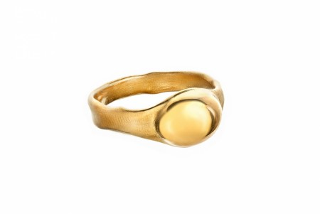 Seaweed ring gold plated