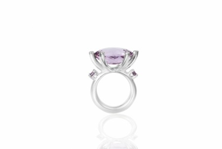 Cocktail claw ring med Amethyst